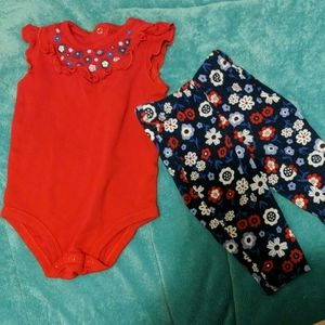 Baby floral outfit